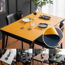 가죽 식탁매트 방수 식탁보 테이블보 (130x80cm)