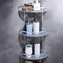 화장실 욕실코너선반 3단 철제 욕실선반 정리대