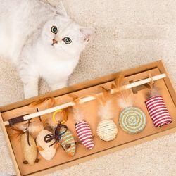 7종 캣토이 세트 고양이장난감 스탠드 낚시대