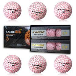 카에데 로즈핑크 12개 2피스 컬러 골프공 여성 선물