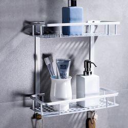 화장실 욕실일자선반 2단 철제 욕실선반 정리대