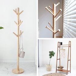 고무나무원목 디자인 행거 모음 (7type)