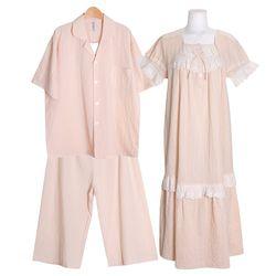 [쿠비카]로맨틱 줄기 레이스 원피스 커플잠옷 WM335