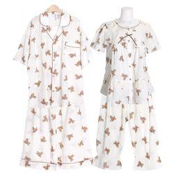 [쿠비카]브라우니 프린팅 투피스 커플잠옷 WM340