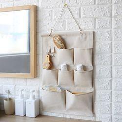 페브릭 벽걸이 수납포켓 아이방 현관문 주방 두꺼비집가리개