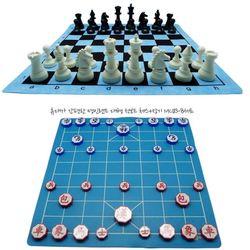 명인 체스 장기 천보드세트 B세트 휴대용 MC183