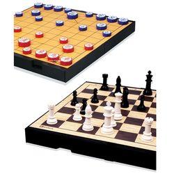 명인 체스 장기 중형 자석 양면 휴대용 M 259