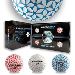 카에데 맥스 3피스 골프공 6구 칼라볼 홀인원 기념품