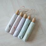 체크 들꽃 UV차단 암막3단 20대 양산 우산 우양산 (5color)