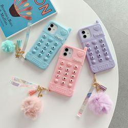 아이폰12 11 PRO MAX SE2 8 전화기 푸쉬팝 팝잇 키링 케이스