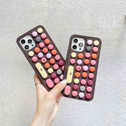 아이폰12 11 PRO MAX XS 8 컬러 스마일 키보드 푸쉬팝 케이스
