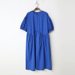Ralee Puff Shirring Long Dress