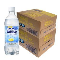 [무료배송] 라인바싸 탄산수 레몬 500ml 페트 40개입 천연 암반수