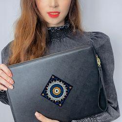 보헤미안 카드슬롯 아이패드 노트북 파우치 클러치 1315
