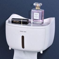 비진 캣츠포인트 선반 겸용 욕실 원터치 휴지케이스