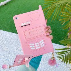 아이패드 프로 미니 에어 레트로 전화기 젤리 케이스