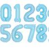 숫자은박풍선 대 블루 풍선만