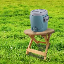 ABC 캠핑 우드 쿨러 스탠드 받침대 미니 의자 (원형타입)