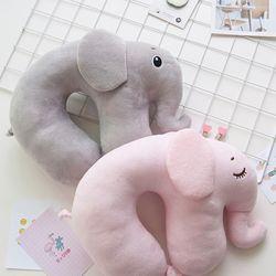비진 푹신푹신 코끼리 목배게 쿠션