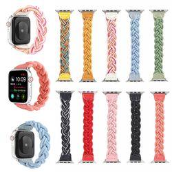 애플워치 6 5 4 3 se 캐주얼 컬러 로프 스트랩 시계줄