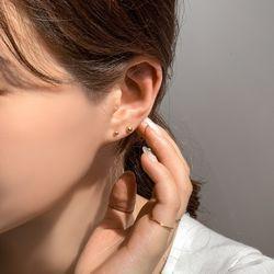 3개 세트 실버925 데일리 심플 볼 귀걸이