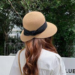 까옹 여성 여름 라인 라피아햇 벙거지 라탄모자