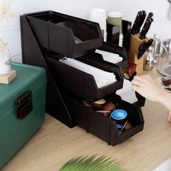 매장 무인카페 오피스 냅킨 빨대 3단 cafe 디스펜서