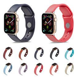 애플워치 6 5 4 3 se 캐주얼 컬러 가죽 스트랩 시계줄