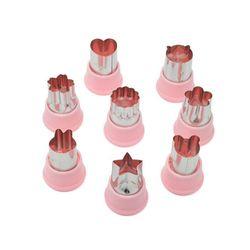 에바 쿠키커터야채커터 모양틀 소8구(핑크)
