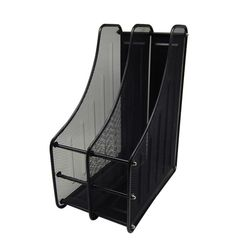 DIY 스틸 2칸 서류꽂이 (281x354x175) 블랙