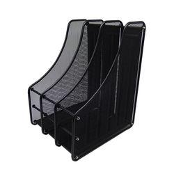 DIY 스틸 3칸 서류꽂이 (281x354x250) 블랙