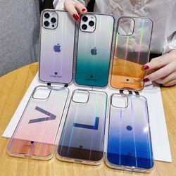 아이폰12 11 XR SE2 X 그라데이션 오로라 투명 케이스