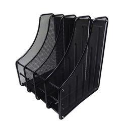 DIY 스틸 4칸 서류꽂이 (281x354x330) 블랙