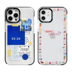 아이폰12미니 스타일 클리어 심플 젤리 케이스 P598