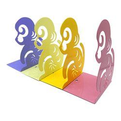디자인 북엔드3 [원숭이]  2개세트 (색상랜덤)