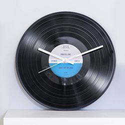 레트로 레코드 LP판 무소음시계 디자인랜덤발송