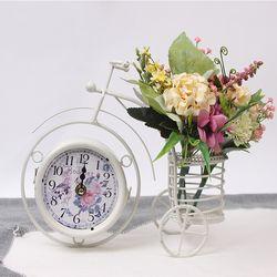 앤틱 인테리어 자전거 탁상 양면 시계