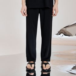 COOL EMBO WIDE PANTS (BLACK) 3size