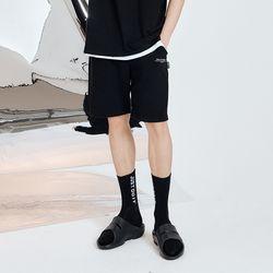 LOGO SWEAT SHORTS PANTS (BLACK) 2size