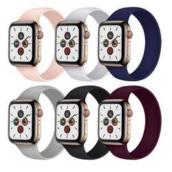 애플워치 6 5 4 3 2 1 SE 일체형 실리콘 밴드 스트랩