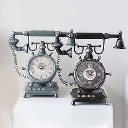 앤틱 전화기 시계(2color)