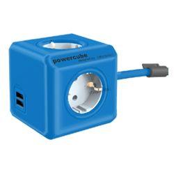 천하 파워큐브 컬러 멀티탭 2.0 USB 1.5m 블루