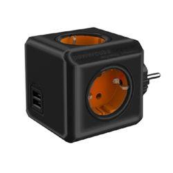 천하 파워큐브 컬러 멀티탭 2.0 오리지널 블랙오렌지