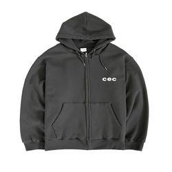CEC ZIP-UP HOODIE(CHARCOAL/기모)(ITEMK4A8AL4)