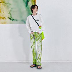 #0232 tie-dye denim jeans (green)(NEWI37Y4HP)