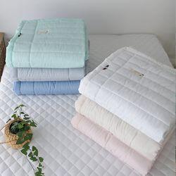 안티바이러스인증 스노우리플 누빔 여름 침대패드(K)