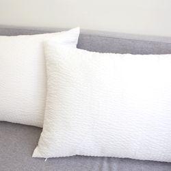 화이트 베개커버 시어서커 간절기 베개 커버 50X70