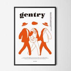 젠트리2 테일러드샵 M 유니크 디자인 포스터 A3(중형)