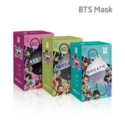 BTS 브레스실버 타이니탄 퀸텟마스크 7팩 14매입 스트랩 케이스