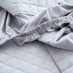블럭 순면 누빔 패밀리 침대 매트리스 커버 300x200